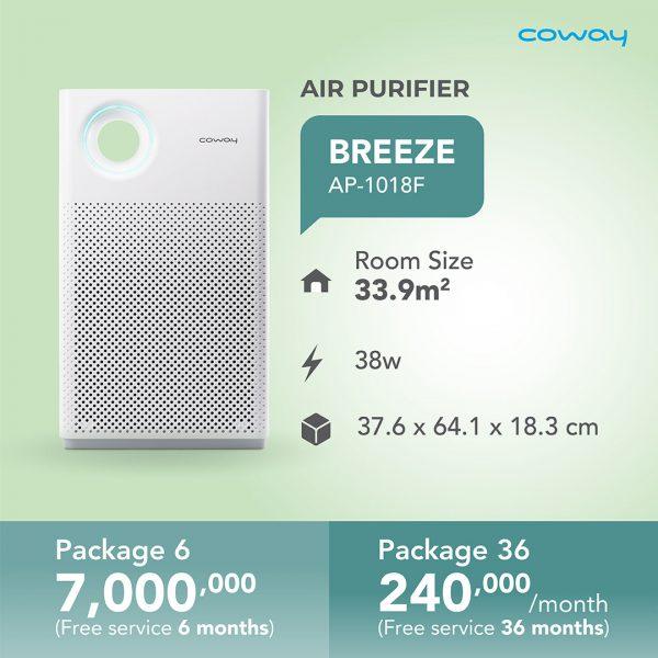 air purifier breeze ap-1018f